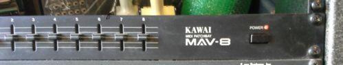 for sale > KAWAI MAV-8 4x8 Rack Mount MIDI Patchbay 4 x 8 Patch Bay