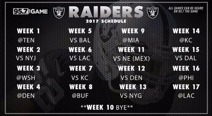 "2017-18 OAKLAND RAIDERS NFL FOOTBALL SCHEDULE SEASON FRIDGE MAGNET (LARGE 4""X5"")"