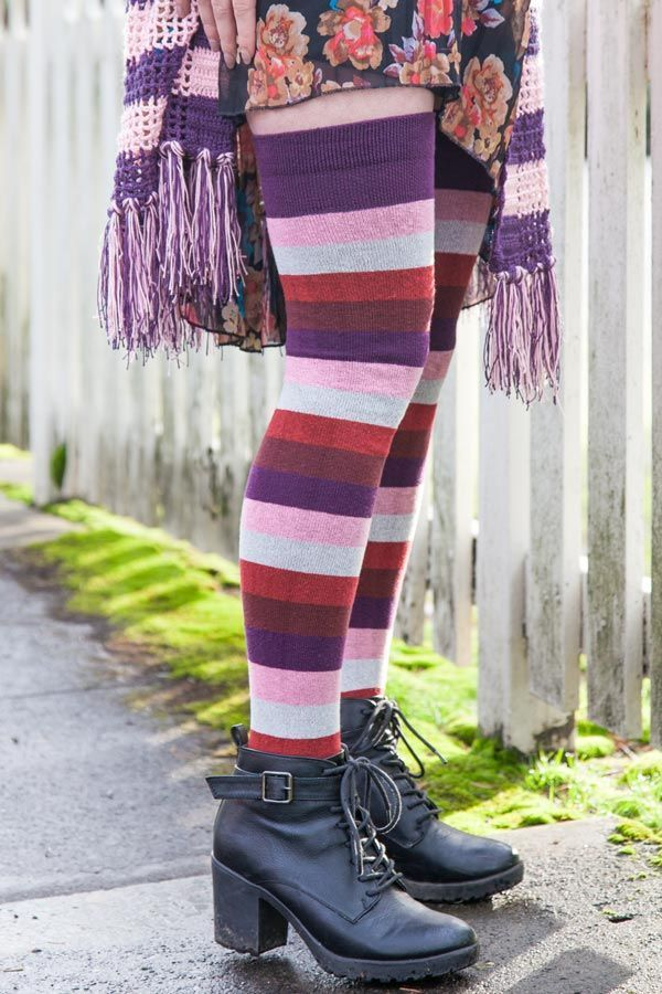 02615ccfcdc Dreamer Cotton Proud Stripes Thigh High -  1 donation to Portland s Q  Center