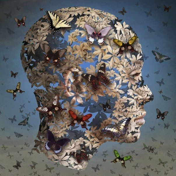 Igor Morski Surreal art butterfly