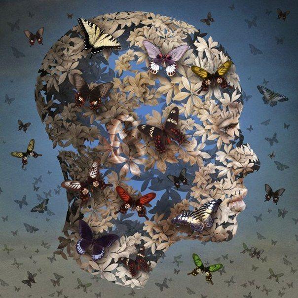 Igor Morski Surreal art butterfly