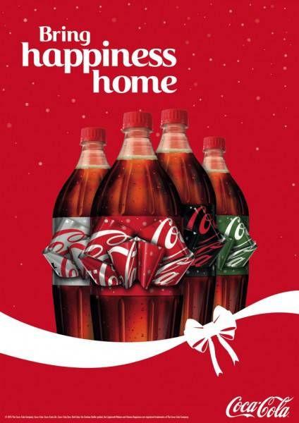 ラベルがリボンに早変わり!英コカ・コーラのラブリーなXmasボトルデザイン - グノシー
