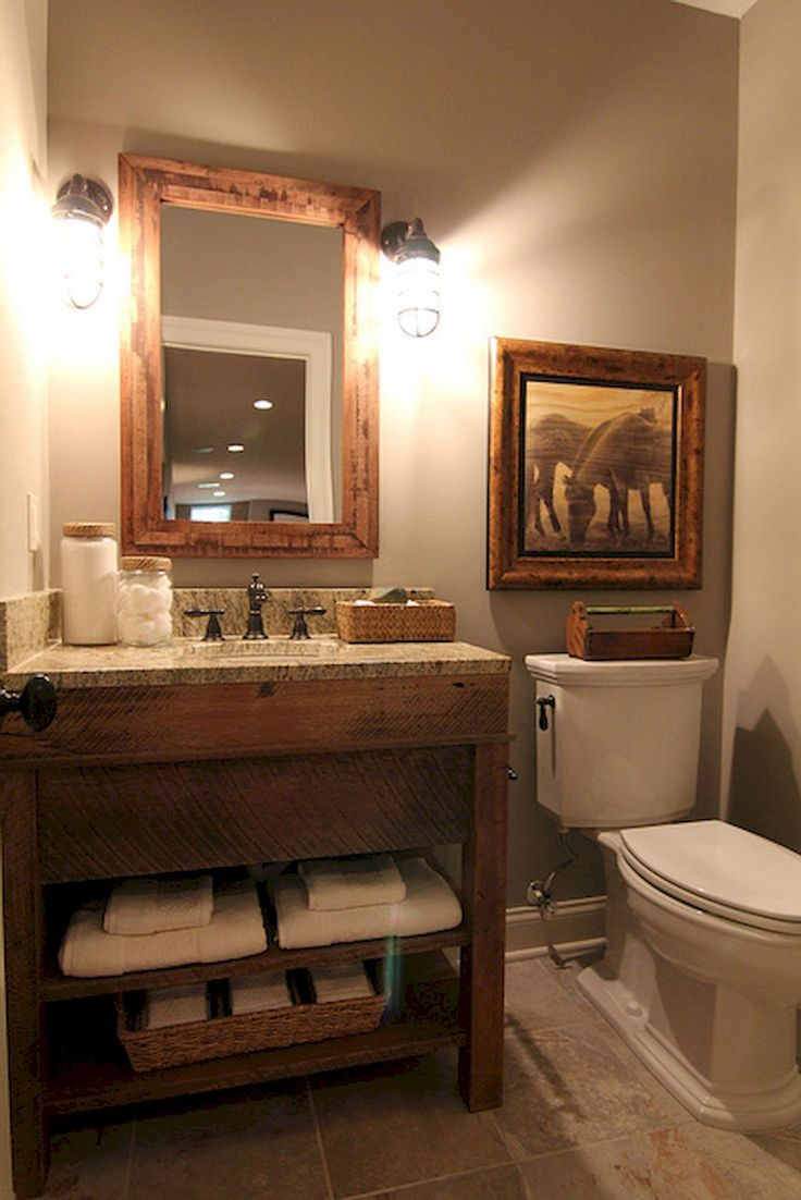 Best 25 Rustic Home Decorating Ideas On Pinterest: Best 25+ Rustic Powder Room Ideas On Pinterest