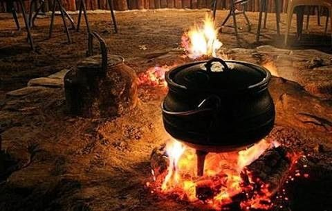 We call it a potjie.... preparing a late lunch.... #lunch #southafrica #photosafari #tourism #extremefrontiers #adventure #holiday #vacation #safari #tourist #travel