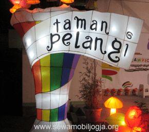 Surga cahaya lampion di Taman Pelangi, Monjali, Yogyakarta