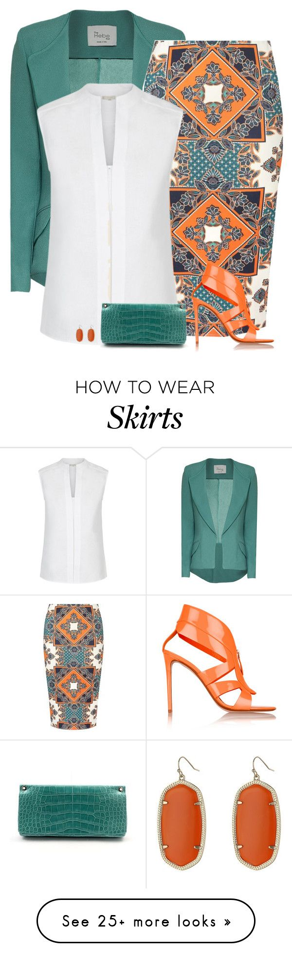 """Tuesday"" Outfit and on Polyvore featuring Dorothy Perkins, Hobbs, Nicholas Kirkwood, Jimmy Choo, Kendra Scott and Original"