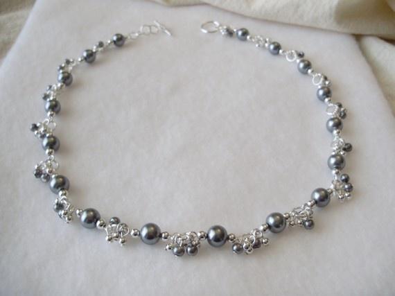 Silver Vineyard Necklace