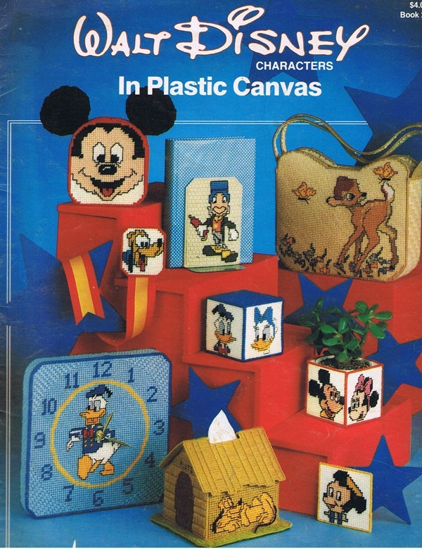 Plastic Canvas Bookmark Patterns | Walt Disney Characters in Plastic Canvas Craft Pattern Leaflet 2005