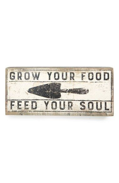 Primitives by Kathy 'Grow Your Food' Sign available at #Nordstrom