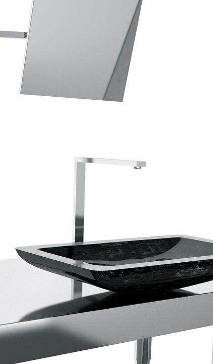 Maestrobath   Alumix Vogue sink in Black Silver