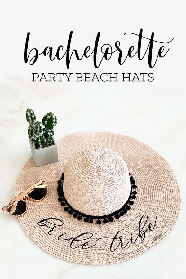 12203426664 Bachelorette Party Beach Hats to dress up your bride tribe! A cute way to  show off your titles over the weekend getaway.