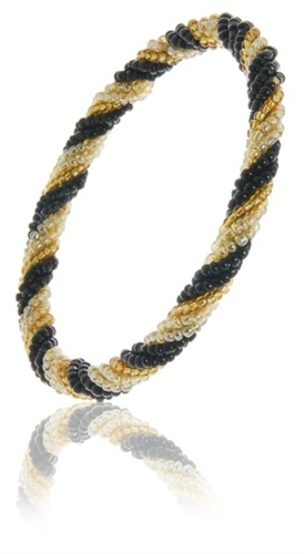 Fair Trade Black & Gold Plaited Bangle £3.95