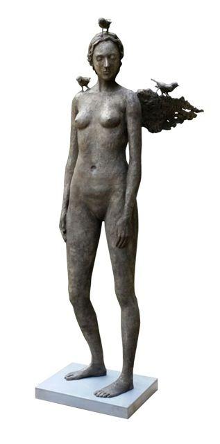 'Chrysalis' 1850mm High Bronze Sculpture by Grace da Costa. www.gracedacosta.co.za