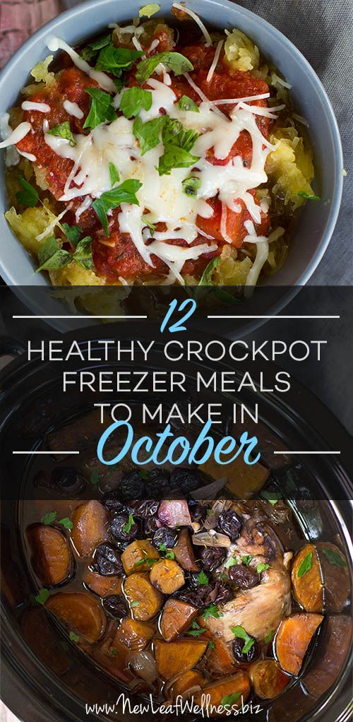 12 Healthy Crockpot Meals to Make in October.
