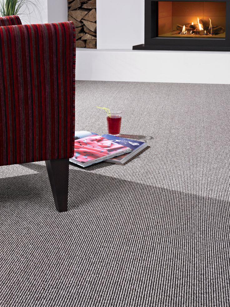 Book of stripe, grey, 100% wool, WOW (Wool Owner's Warranty), Kingsmead Carpets