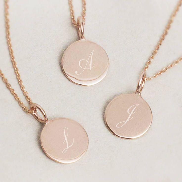 Sterling silver initial charm necklace available in silver or rose gold with a heart or disc pendant.Please contact us using ask seller a question if you would like help with your engraving or other requirements as we are always happy to help. Symbols are also available as well as alternative fonts, we are happy to help you create your unique gift. We have a variety of free gift cards to choose to accompany your order as well as an option of luxury packaging with beautiful foil cards. FREE…