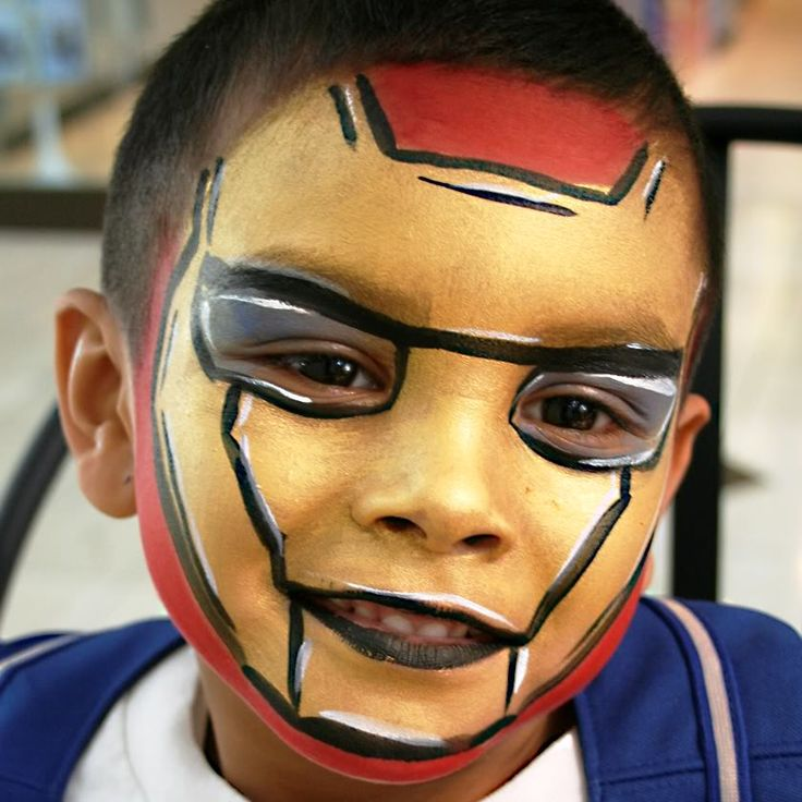 Face painting iron man image by 9833211 on Photobucket