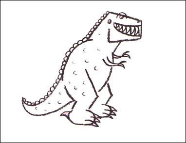 tyrannosaurus-rex-how-to-draw    because we're in the dino family :))