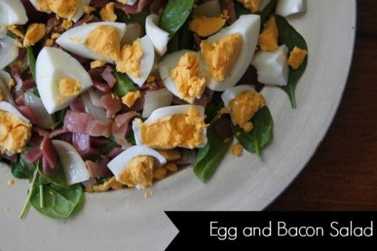 Egg and bacon salad easy to make, delicious to taste and is a fave with kids and adults alike.  #Paleo