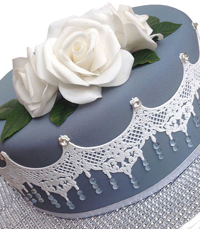 The Platinum Collection - Quality lace edging and finishes for all cake types.