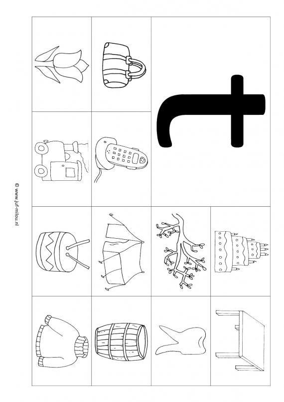 Werkbladen - taal - letters leren