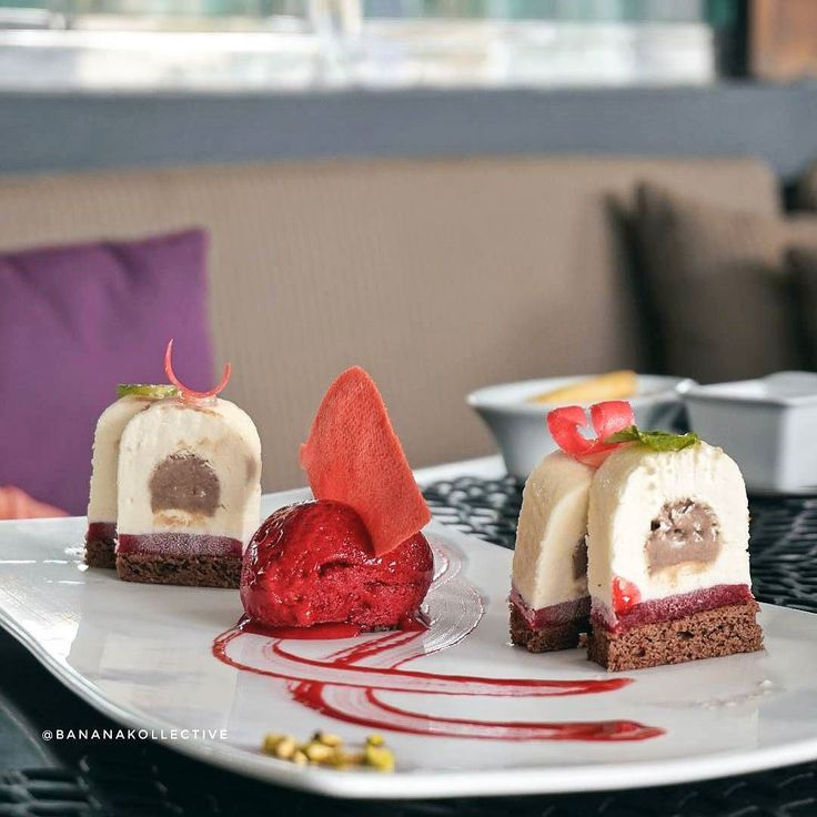#Bali. Some said there is always time for dessert and now the time for Caramélia from @TheSakalaResortBali's #BeachClub. Cheesecake with caramel and chocolate crémeux caracas dacquoise and raspberry sorbet