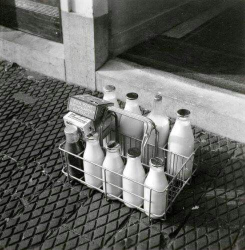 Bestelling van de melkboer.
