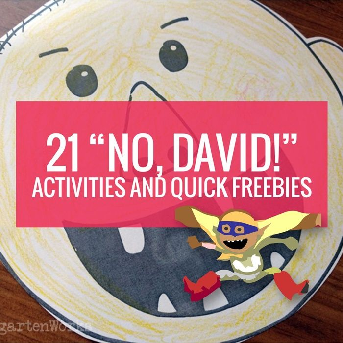 Here are free No David activities, videos and book ideas listed all in one place so you don't have to go digging to look for them.