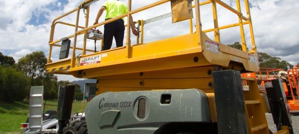Operate a scissor lift safely