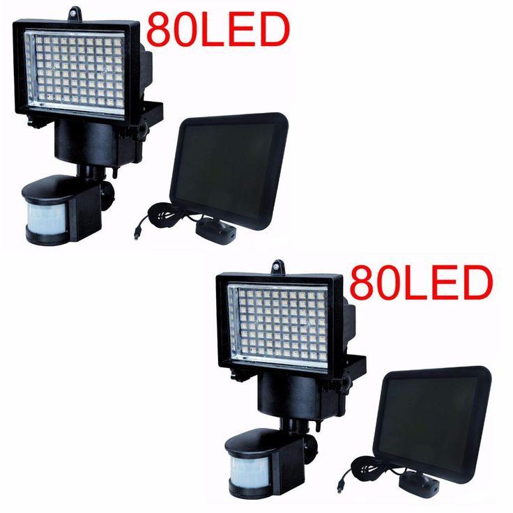 2X 80 LED Solar Powered Motion Sensor Security Flood Light Outdoor Lights #SolarSmartCreation