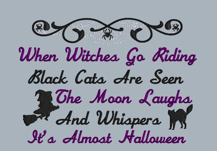 When Witches Go Riding 5x7