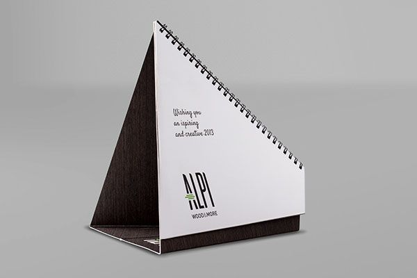 Alpi Wood - Calendar 2013 by Fabio Faberi, via Behance