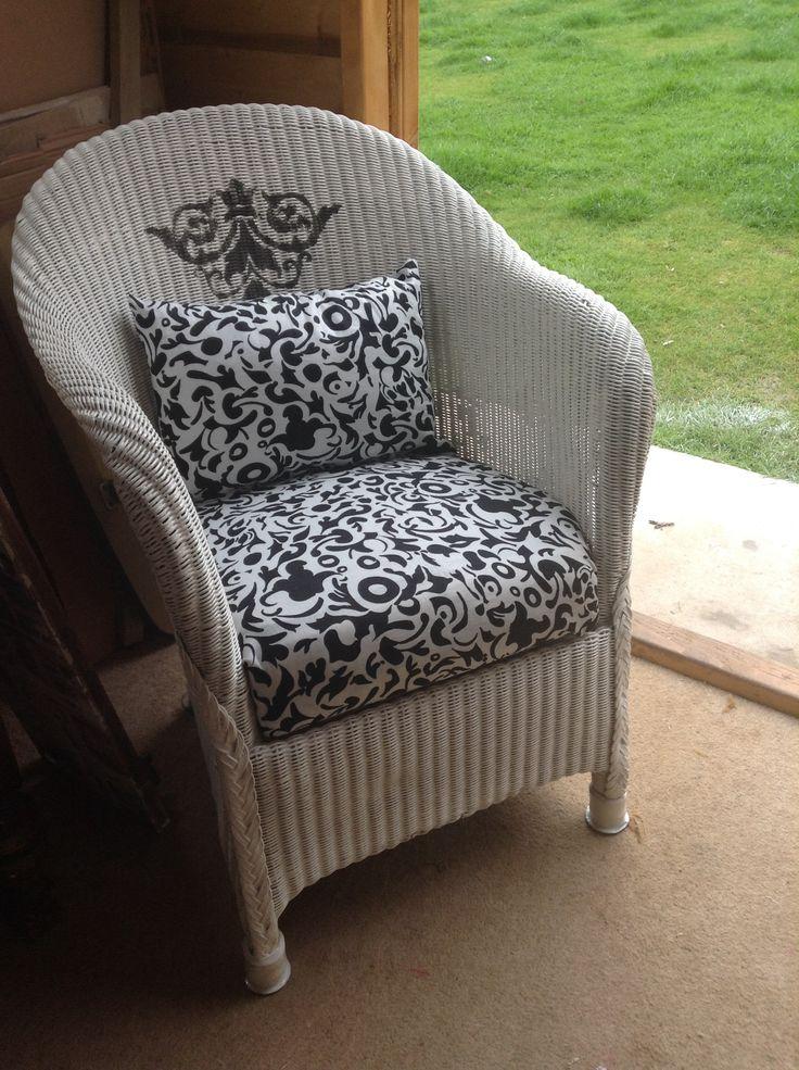 I Restored This Lloyd Loom Tub Chair Re Sprayed In White