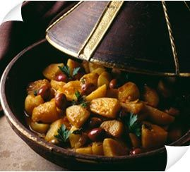 potatoes and olives tajine