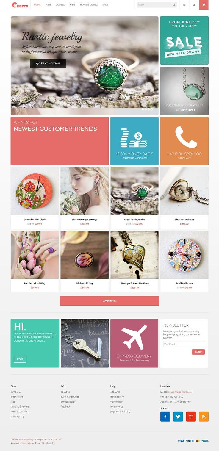 JM Crafts - Responsive Magento Theme for Craft Stores