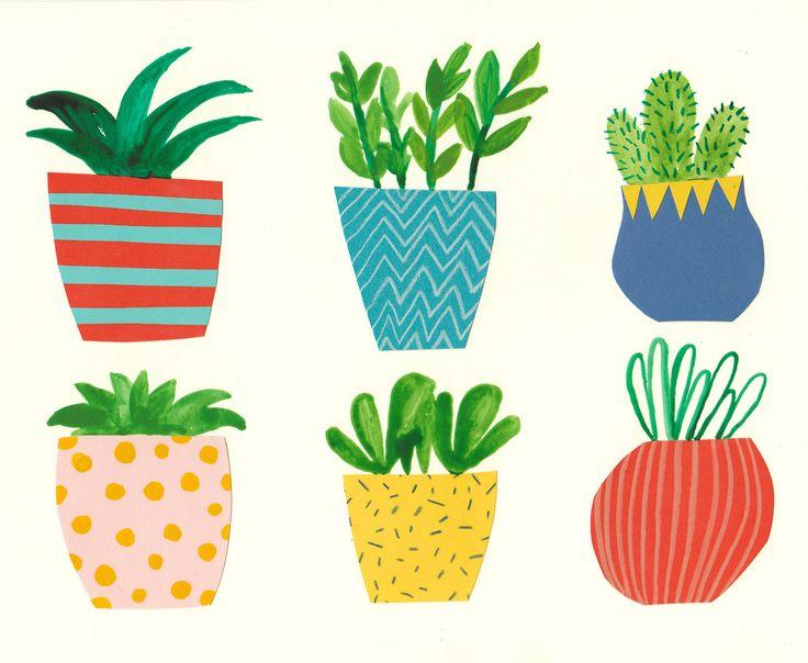 Rachael Anna Cocker - Plants in Pots