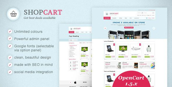 See More ShopCart - OpenCart theme with powerful optionsWe provide you all shopping site and all informations in our go to store link. You will see low prices on