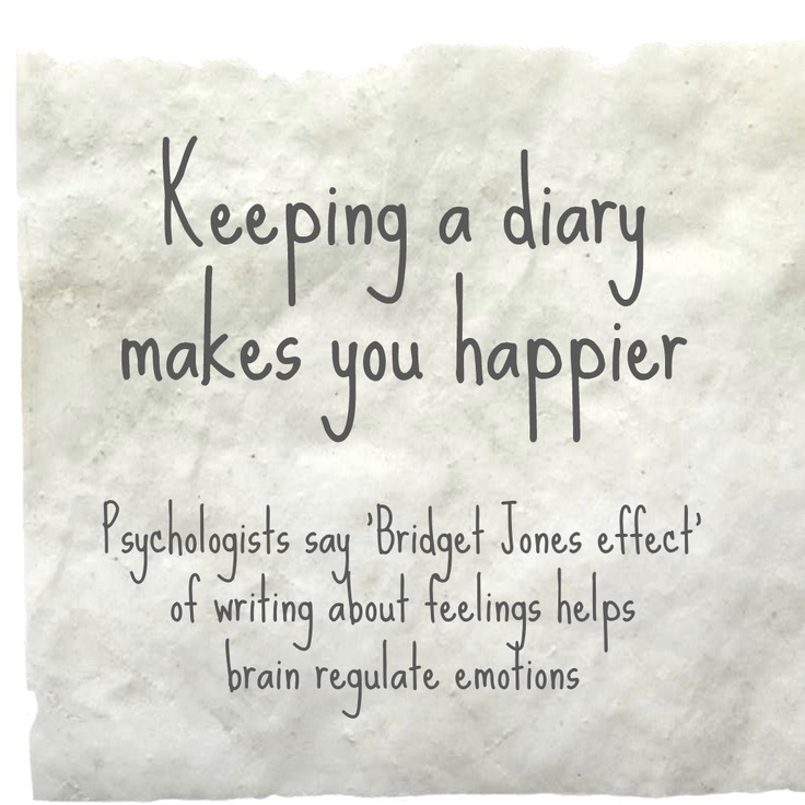 Does writing a diary help with depression