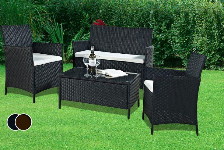 4pc rattan garden furniture set for Best deals on garden furniture sets