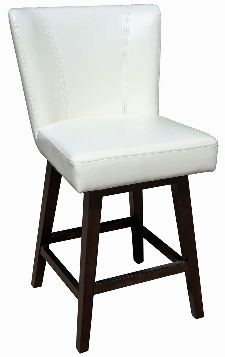 Bar Stools & Counter Stools :: Ivory Swivel Leather Counter Stool R-1223 - ARTeFAC USA