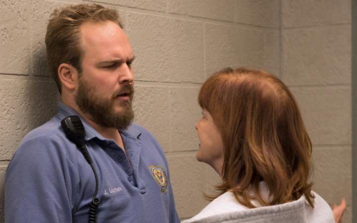 Matt Peters and Blair Brown as Luschek and Judy King