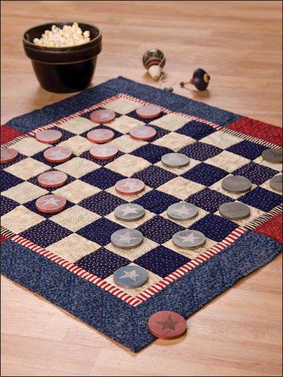 Americana Checkerboard Make A Fabric Checkerboard And