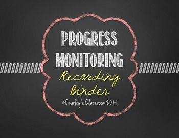 "***HUGE Update! 7/3/2015***If you have previously purchased this product, please redownload it from your ""My Purchases"" page!:)It has taken me awhile, but I have FINALLY created IEP progress monitoring binders in hopes to help special education teachers stay better organized during the end of each school day, week, trimester, or quarter, while completing students data collecting."