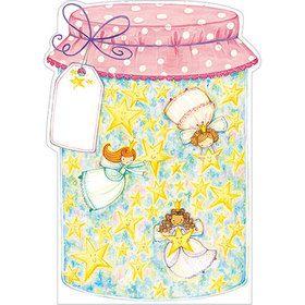 B037 Jar of Fairy Wishes Gift Card. www.gailscards.com.au