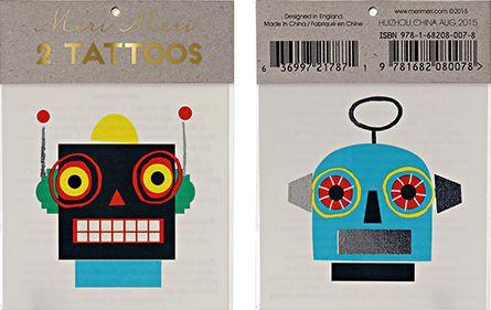 Robot Temporary Tattoos – The Bullish Store- #getbullish #robot #science #stem #kids