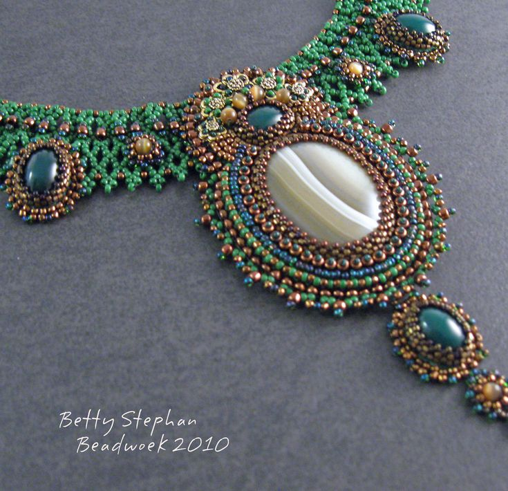 Best bead netting images on pinterest necklaces