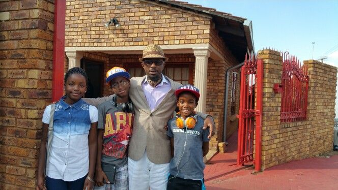 At Atteridgeville with my neicenephews for my cousin's Lobola (traditional wedding).