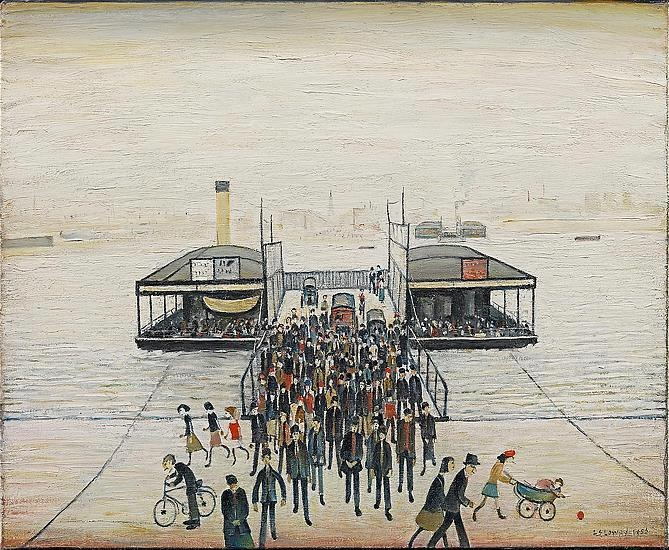 Southampton Bridge by L S Lowry