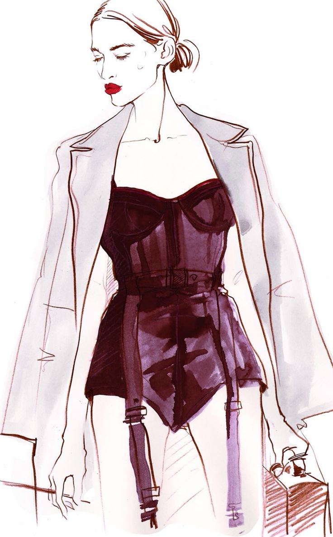 Alena Lavdovskaya. Fashion illustration on Artluxe Designs. #artluxedesigns