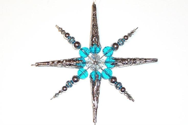 Stella di Natale fatta con le nostre perline - DIY Beaded Christmas star